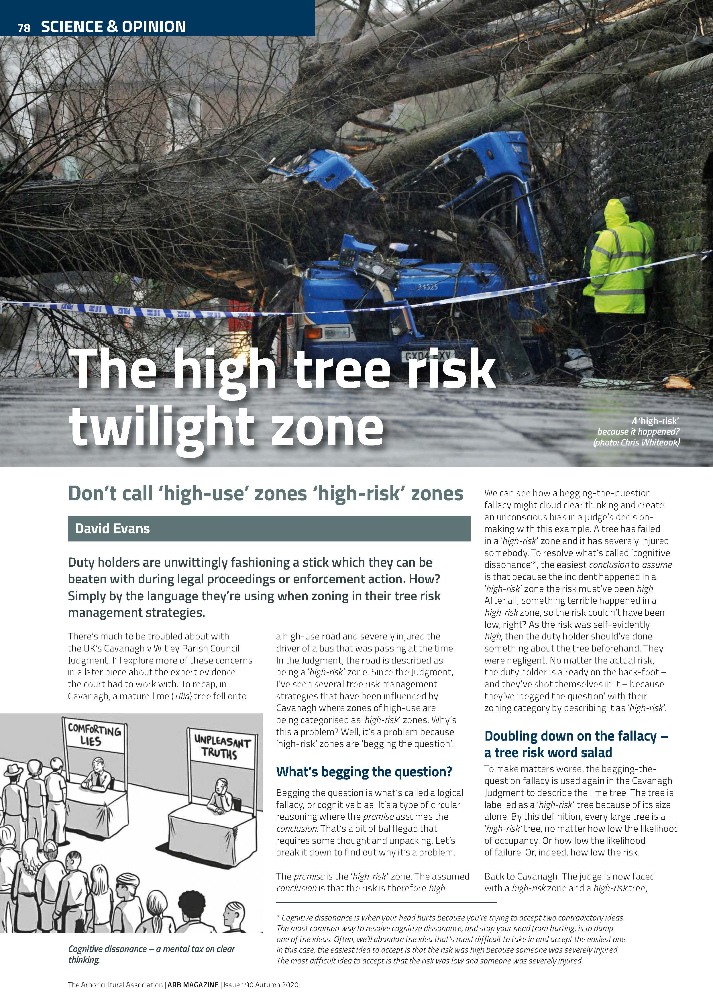 Tree risk management zoning