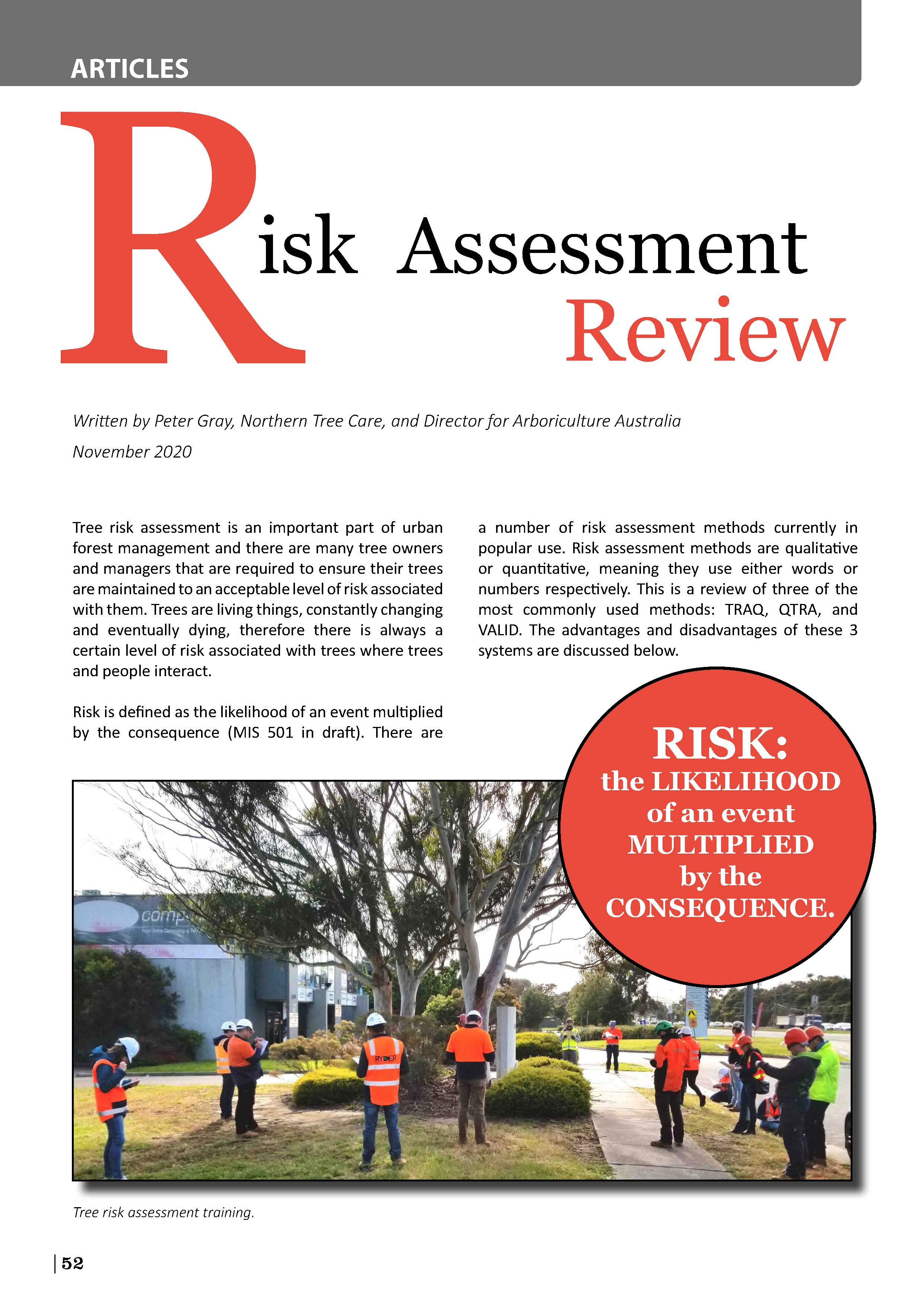 Tree risk assessment review article